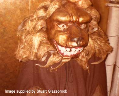 Lion Mask from MASQUE OF MANDRAGORA on show in 1977