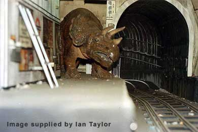 The Triceratops shakes its head in Blackpool 1974