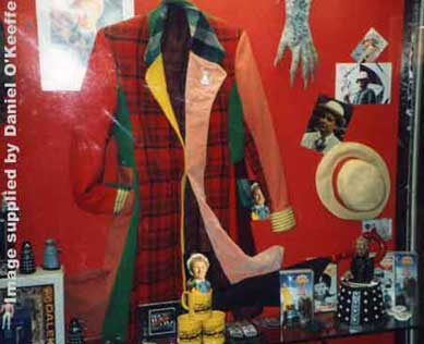 Colin Bakers costume displayed in the Exhibition Stables shop in 1988