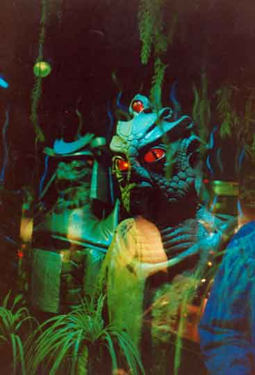 The Silurians always suffered red eye in photos!